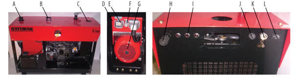 Self-Contained Generator Parts Referance Image